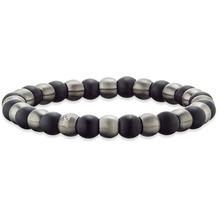 Save Brave Armband Bruce schwarze Onyx- und Carbonperlen  22381