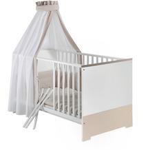 Schardt Candy Kombi-Kinderbett 70x140 cm, weiß / sandgrau