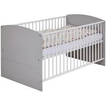 Schardt Classic Grey Kombi-Kinderbett 70x140 cm, grau / weiß