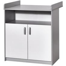 Schardt Classic Grey Wickelkommode 2 Türen, 1 offenes Fach, grau / weiß