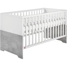 Schardt Coco Grey Kombi-Kinderbett 70x140 cm, weiß, Stone grey