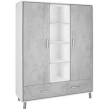Schardt Coco Grey Schrank 2 Türen mit Mittelregal, Stone grey