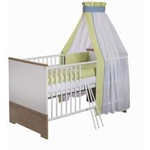 Schardt Eco Plus Kombi-Kinderbett 70x140 cm, Halifax Eiche / weiß