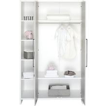 Schardt Eco Silber Schrank 2 Türen, Regalteil, weiß / Pinie silber