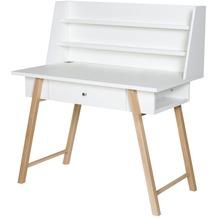 Schardt Holly Nature Schreibtisch, 1 Schub, weiß / natur