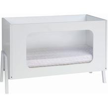 Schardt Holly White Kombi-Kinderbett 60x120 cm mit Plexiglasfüllung, weiß