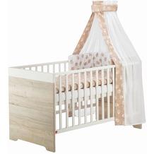 Schardt Mick/Clou Oak Kombi-Kinderbett 70x140 cm,Halifax Eiche weiß/weiß