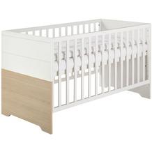 Schardt Slide Oak Kombi-Kinderbett 70x140 cm, Vicenza/weiß lackiert