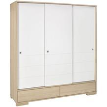 Schardt Slide Oak Schrank 3 Türen, Vicenza / weiß