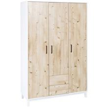 Schardt Timber Pinie Schrank 3 Türen, 2 Schübe, weißgrau / Henson Pine