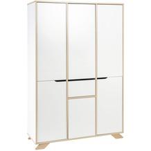 Schardt Tokio Schrank 6 Türen, 1 Schub, weiß / Altmühlbuche