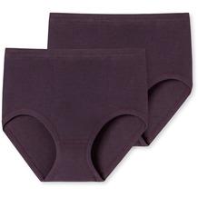 Schiesser 2er Pack Taillen Slip aubergine 000005-511 38