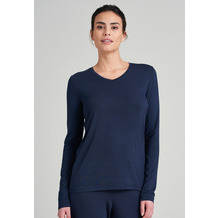 Schiesser Damen Langarmshirt blau 175477-800 34