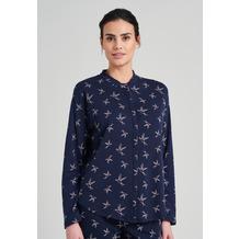 Schiesser Damen Langarmshirt dunkelblau-gem. 176150-835 36