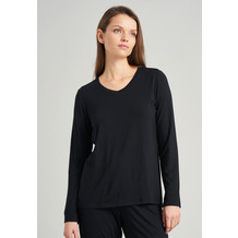 Schiesser Damen Langarmshirt schwarz 175477-000 34
