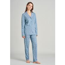 Schiesser Damen Pyjama lang hellblau 175542-805 36