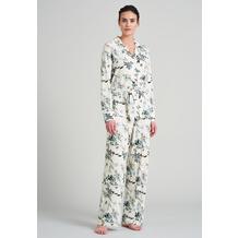 Schiesser Damen Pyjama lang vanille 175537-607 36