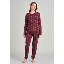 Schiesser Damen Schlafanzug lang burgund 175557-516 36