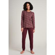 Schiesser Damen Schlafanzug lang burgund 175568-516 36