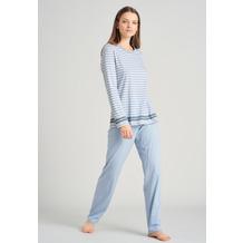 Schiesser Damen Schlafanzug lang hellblau 175487-805 36