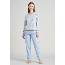 Schiesser Damen Schlafanzug lang hellblau 175489-805 36
