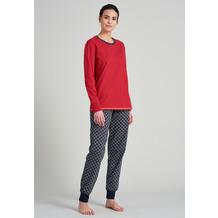 Schiesser Damen Schlafanzug lang rot 175750-500 36