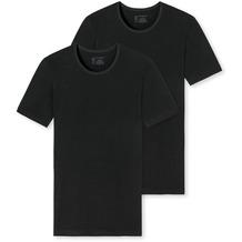 Schiesser Herren 2PACK T-shirt schwarz 174997-000 4