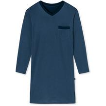 Schiesser Herren Nachthemd lang jeansblau 175648-816 48