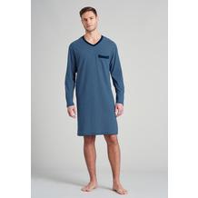 Schiesser Herren Nachthemd lang nachtblau 175685-804 48
