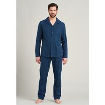 Schiesser Herren Pyjama lang blau 175611-800 46