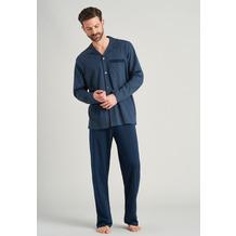 Schiesser Herren Pyjama lang jeansblau 175644-816 48
