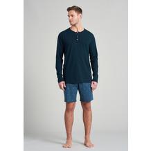 Schiesser Herren Schlafanzug kurz jeansblau 175690-816 48