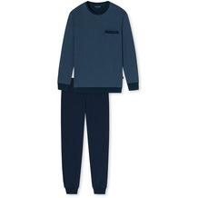 Schiesser Herren Schlafanzug lang jeansblau 175645-816 25