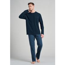 Schiesser Herren Schlafanzug lang jeansblau 175691-816 46