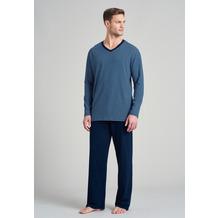 Schiesser Herren Schlafanzug lang nachtblau 175686-804 48