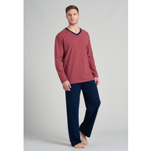 Schiesser Herren Schlafanzug lang rot 175686-500 48