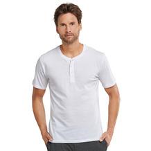 Schiesser Herren T-shirt Knopfleiste weiß 163831-100 48
