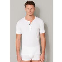 Schiesser Herren T-shirt Knopfleiste weiß 174018-100 4