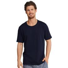 Schiesser Herren T-shirt Rundhals dunkelblau 163832-803 48