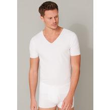 Schiesser Herren T-shirt V-Ausschnitt weiß 173252-100 4