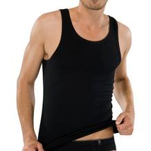 Schiesser Jacke ohne Arme Cotton 95/5 schwarz 10