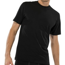 Schiesser Shirt kurzarm American T-Shirt Rundhals 2er Pack schwarz 3XL