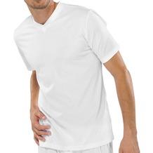 Schiesser Shirt kurzarm American T-Shirt V-Auschnitt 2er Pack weiß 3XL