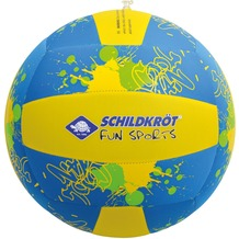 Schildkröt Funsport Neopren Beach Ball XL, 35cm, Design: Volleyball blau/gelb