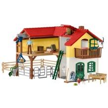 Schleich Bauernhaus mit Stall und Tieren