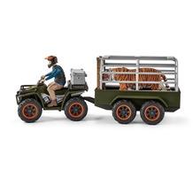 Schleich Quad mit Anhänger und Ranger