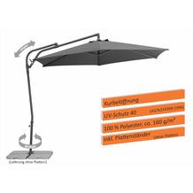 Schneider Schirme Sonnenschirm Genua 300/6 anthrazit