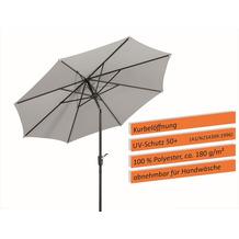 Schneider Schirme Sonnenschirm Harlem 270/8 silbergrau