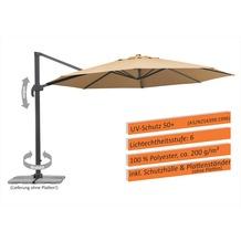 Schneider Schirme Sonnenschirm Rhodos Grande 400/8 sand