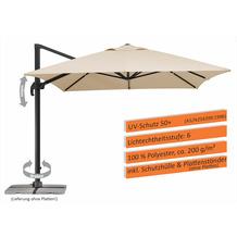 Schneider Schirme Sonnenschirm Rhodos Grande natur 300x400/8